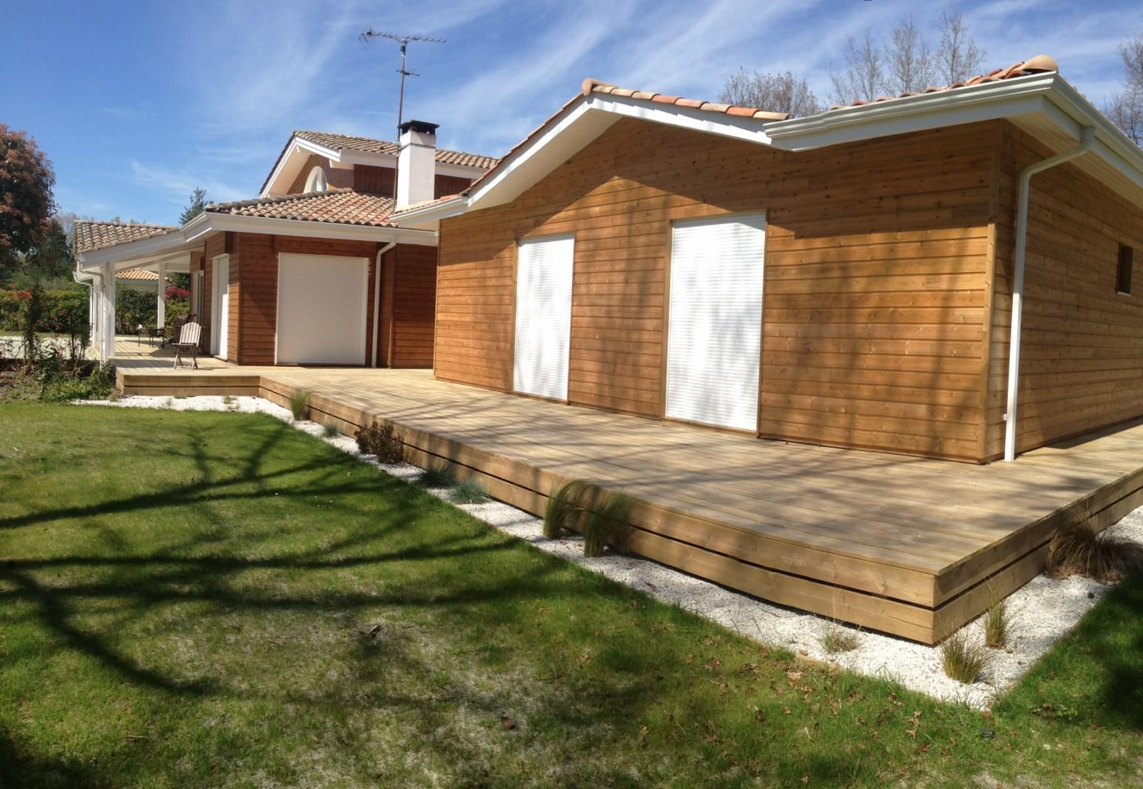 Maison Ossature Bois Bordeaux construction maison ossature bois avec piscine à cestas